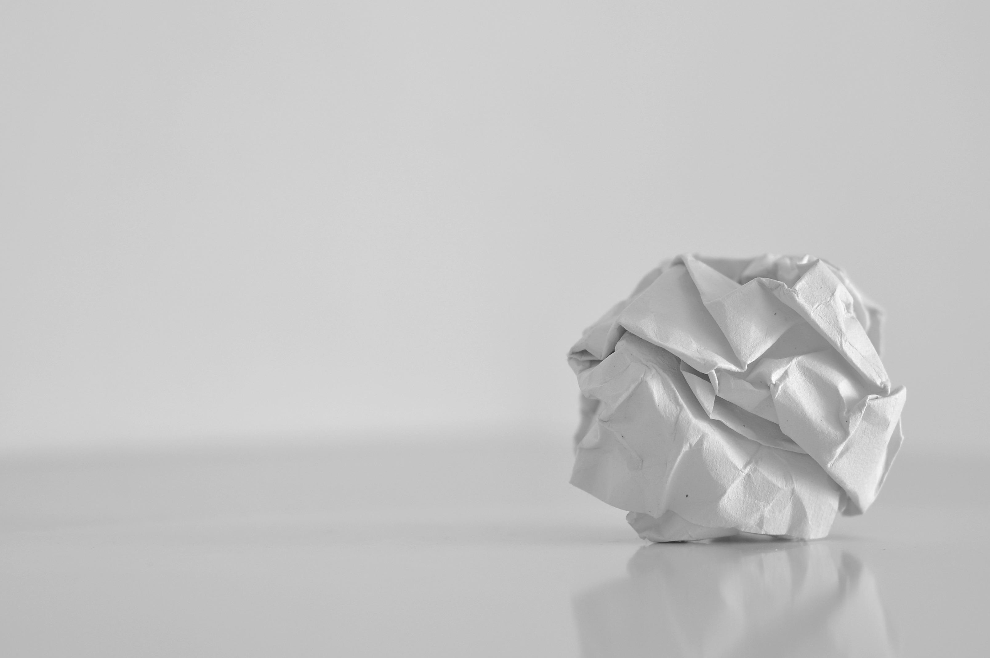 White paper card
