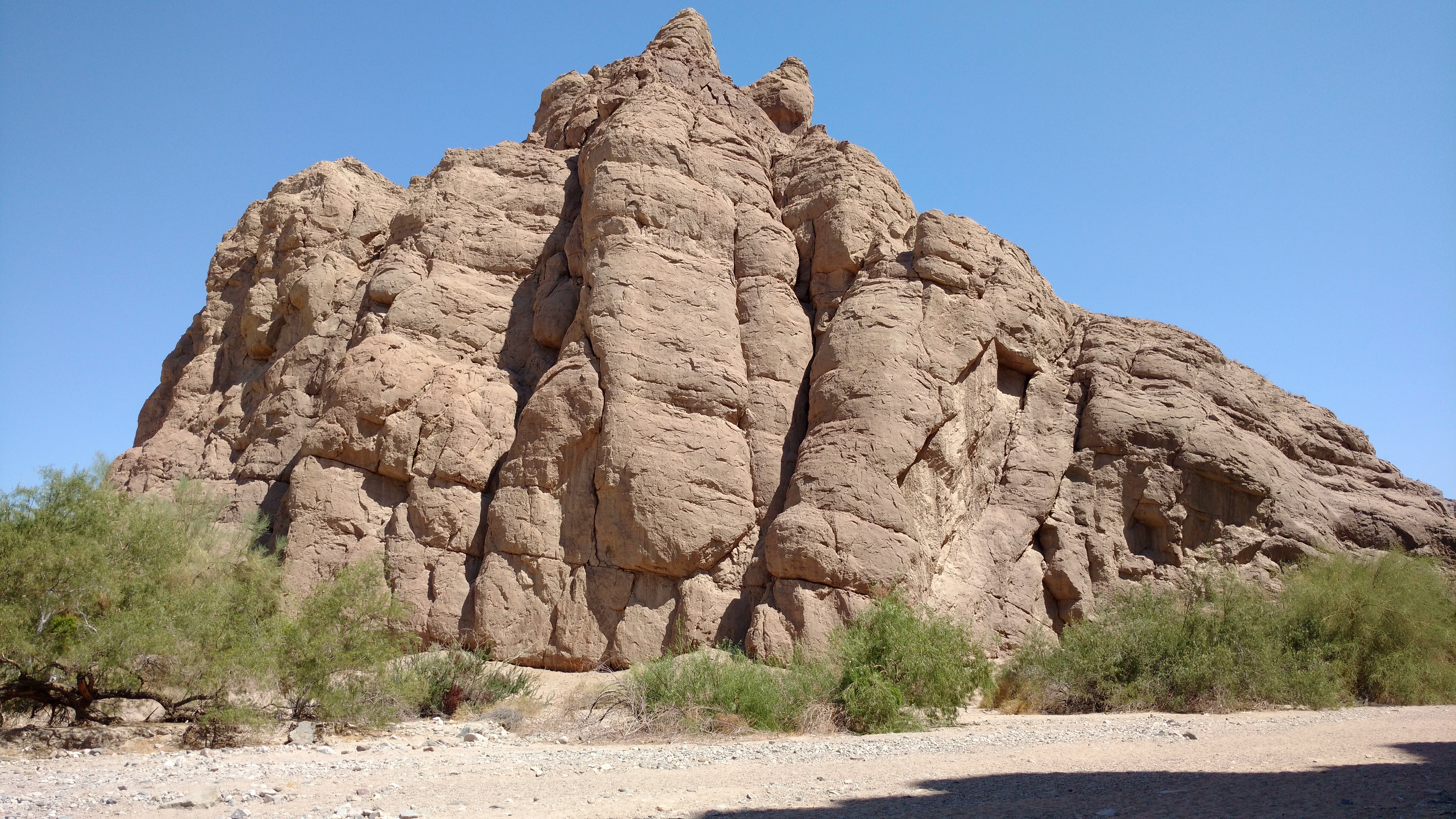 Mountain of rock desert in california
