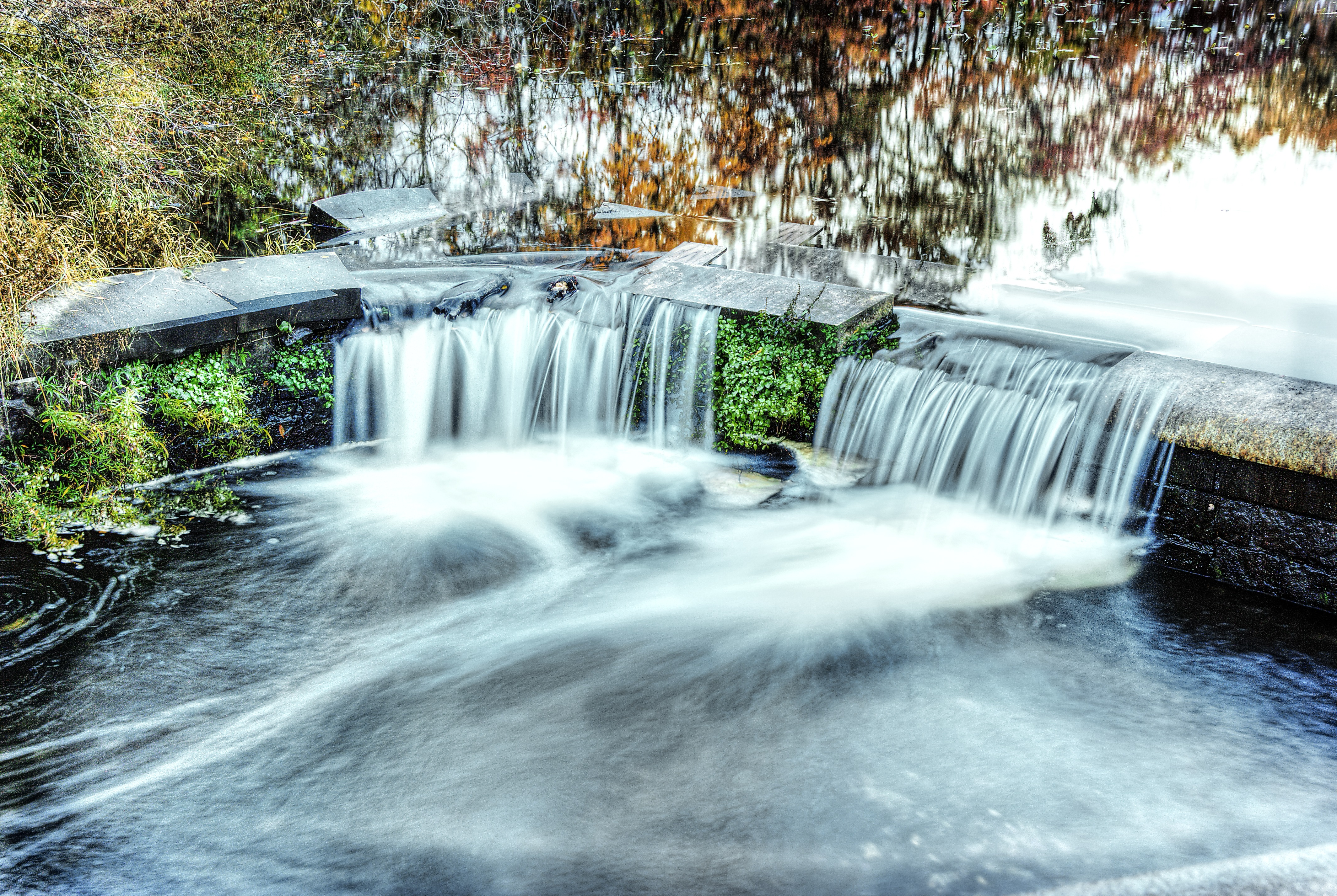 Falls stream floating