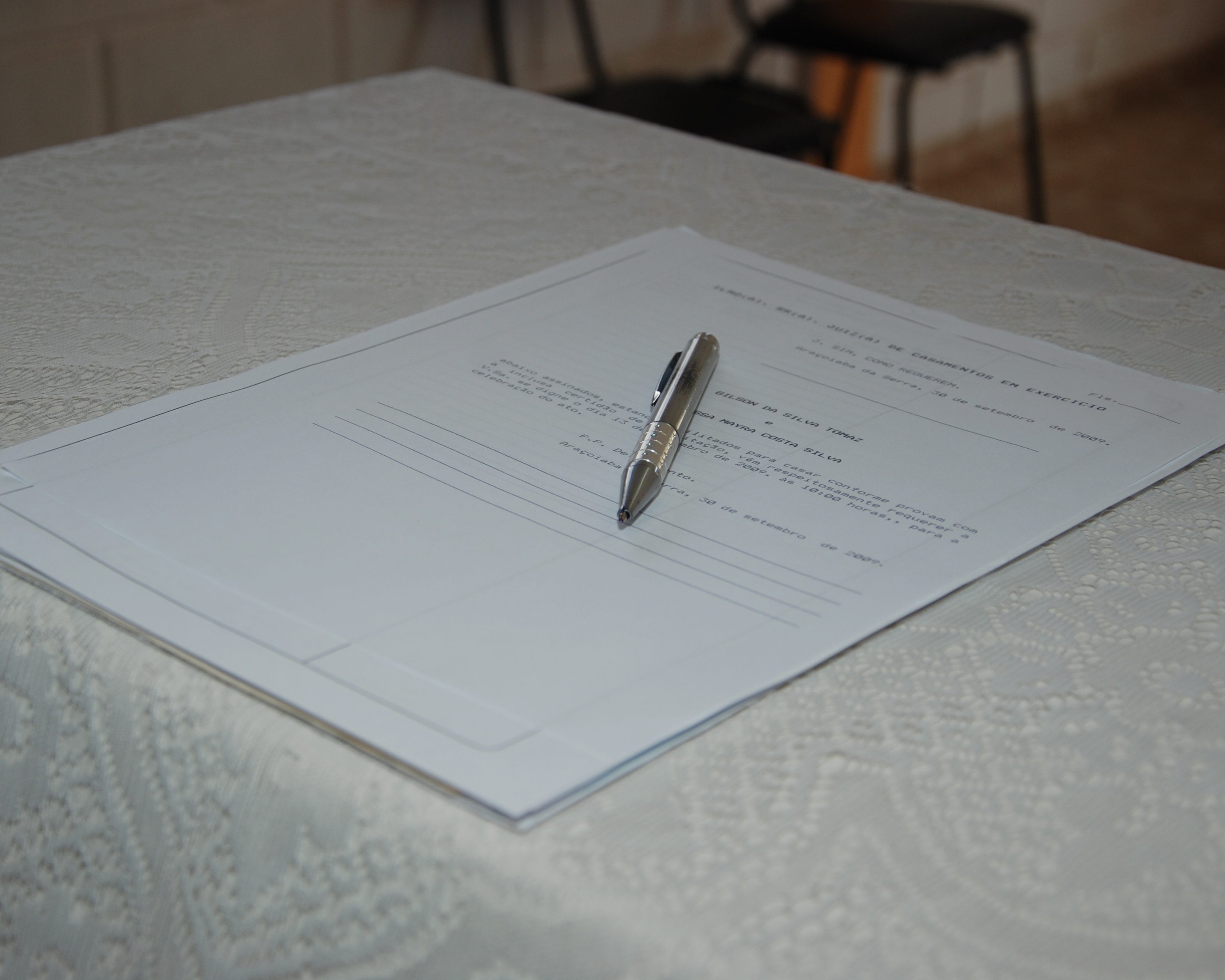 Marriage document certificate
