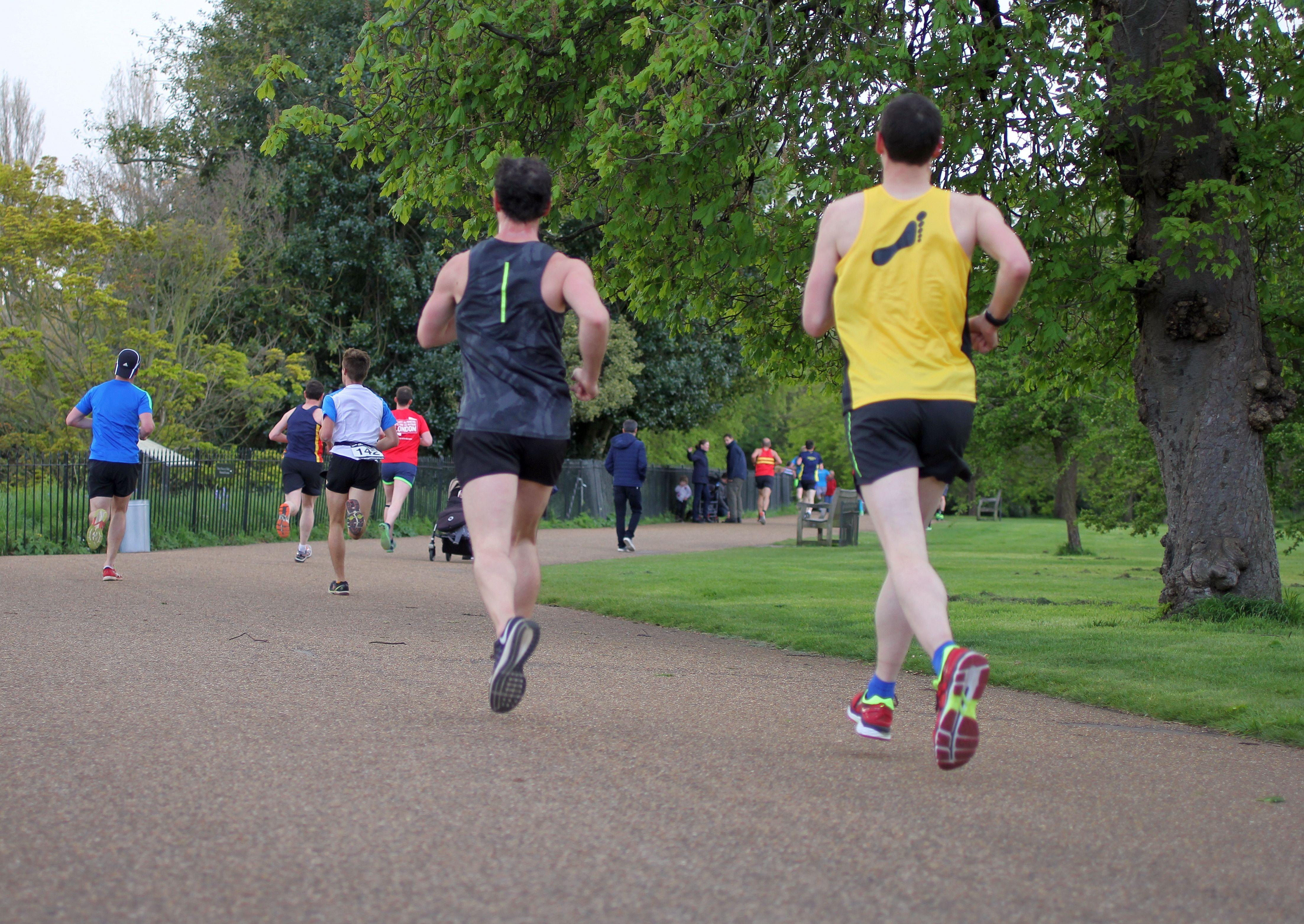 Running motion outdoor
