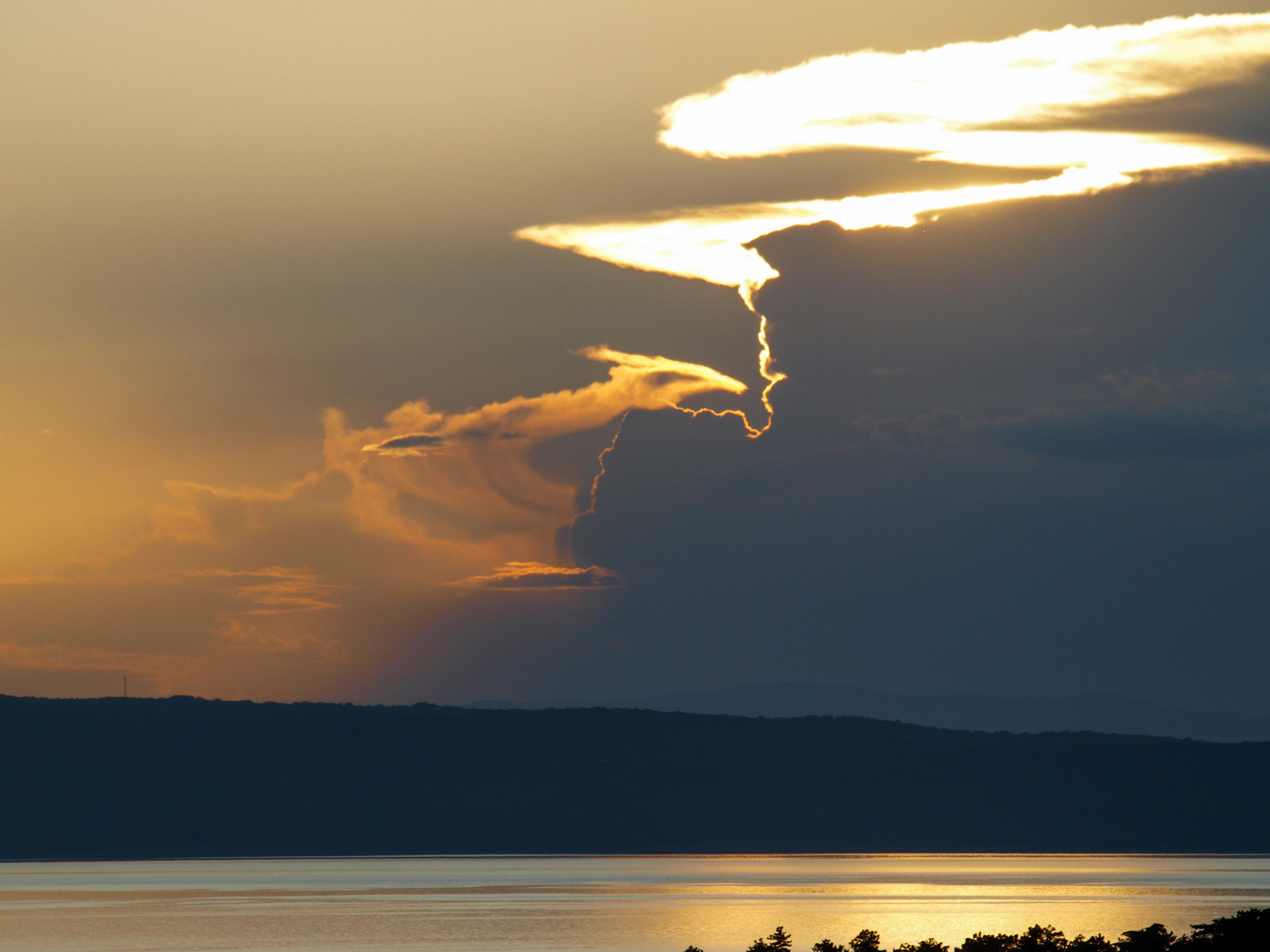 Evening sky sky croatia