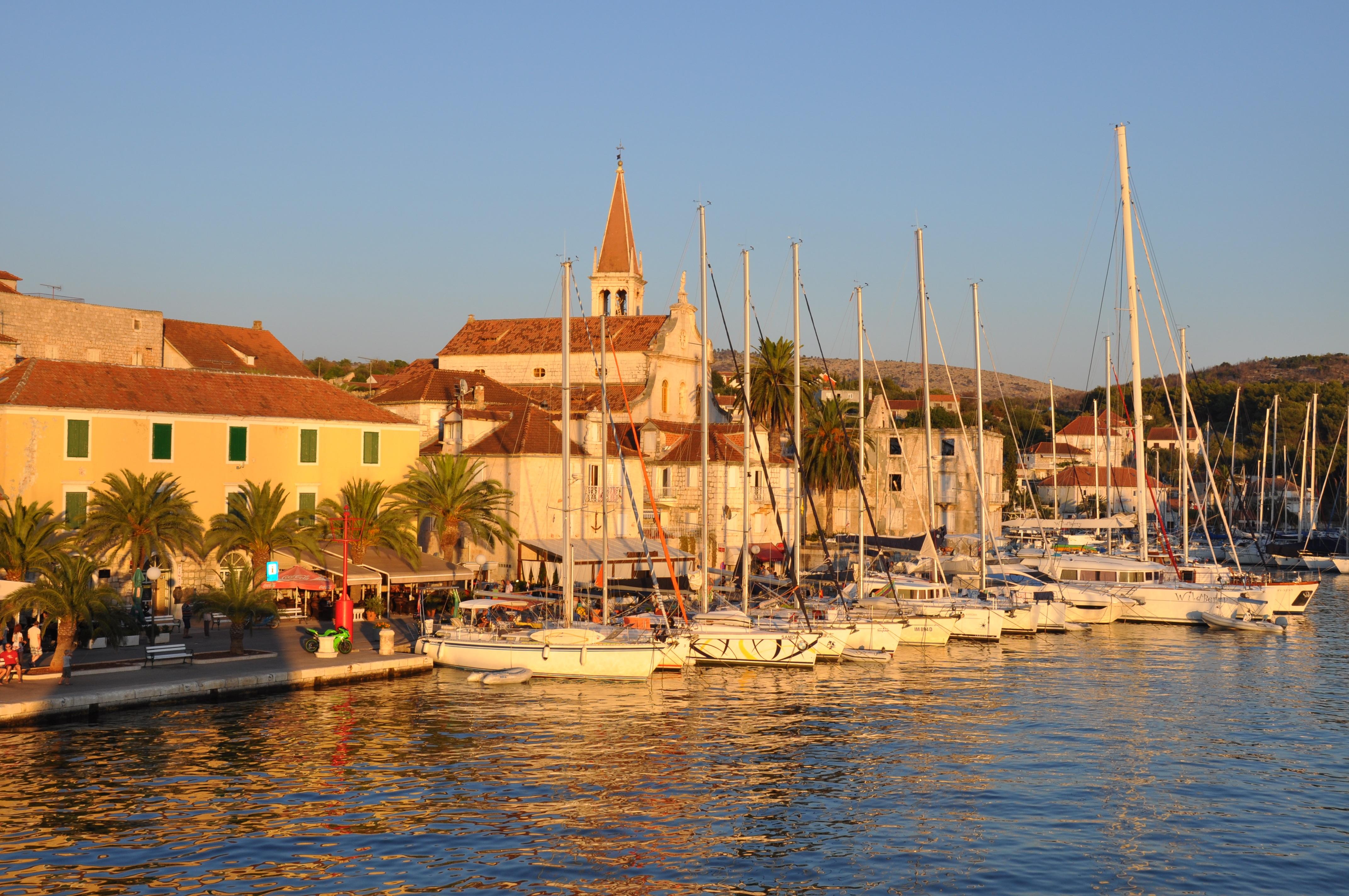 Port croatia sunset