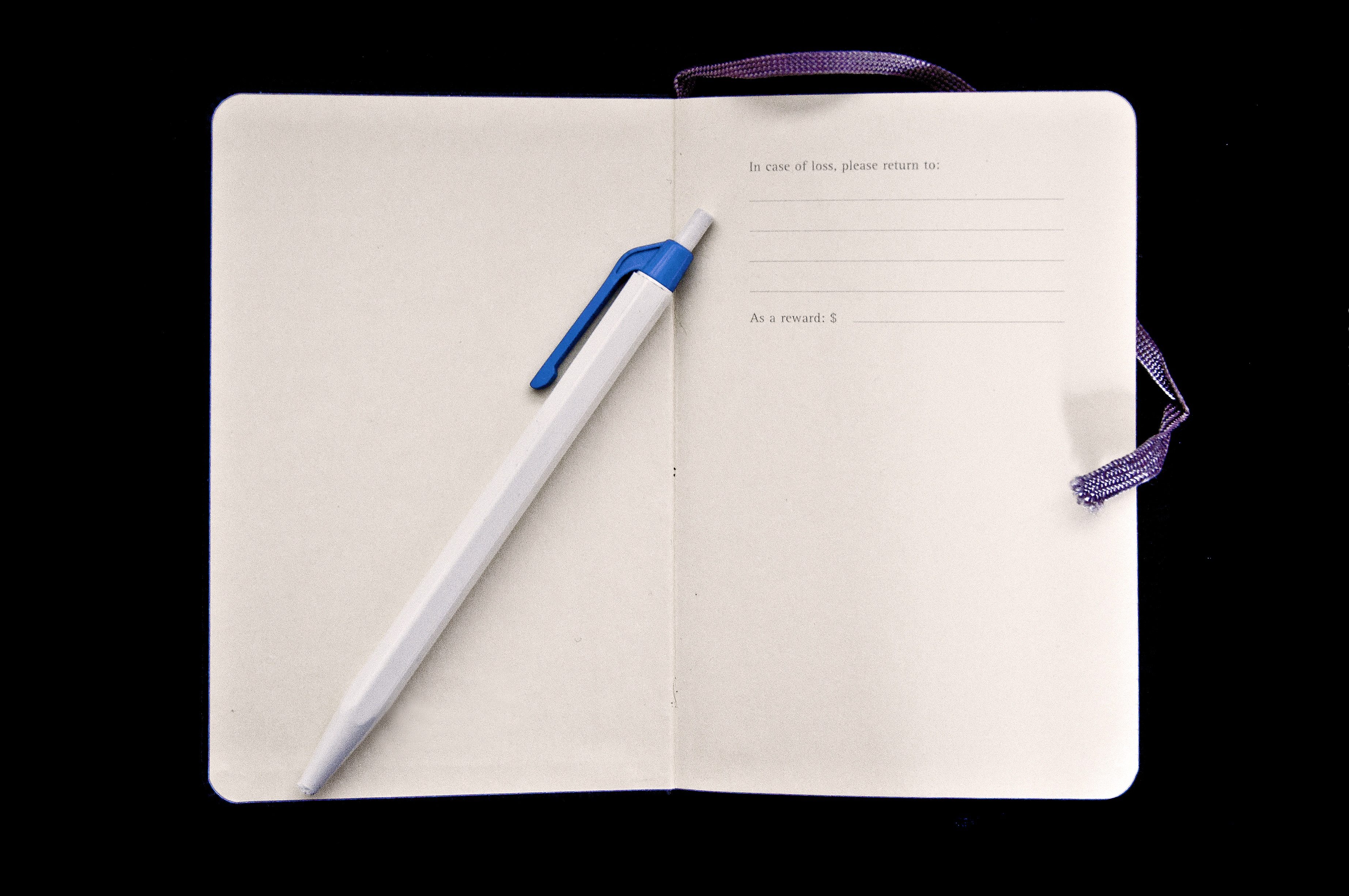 Finder's fee notebook notes