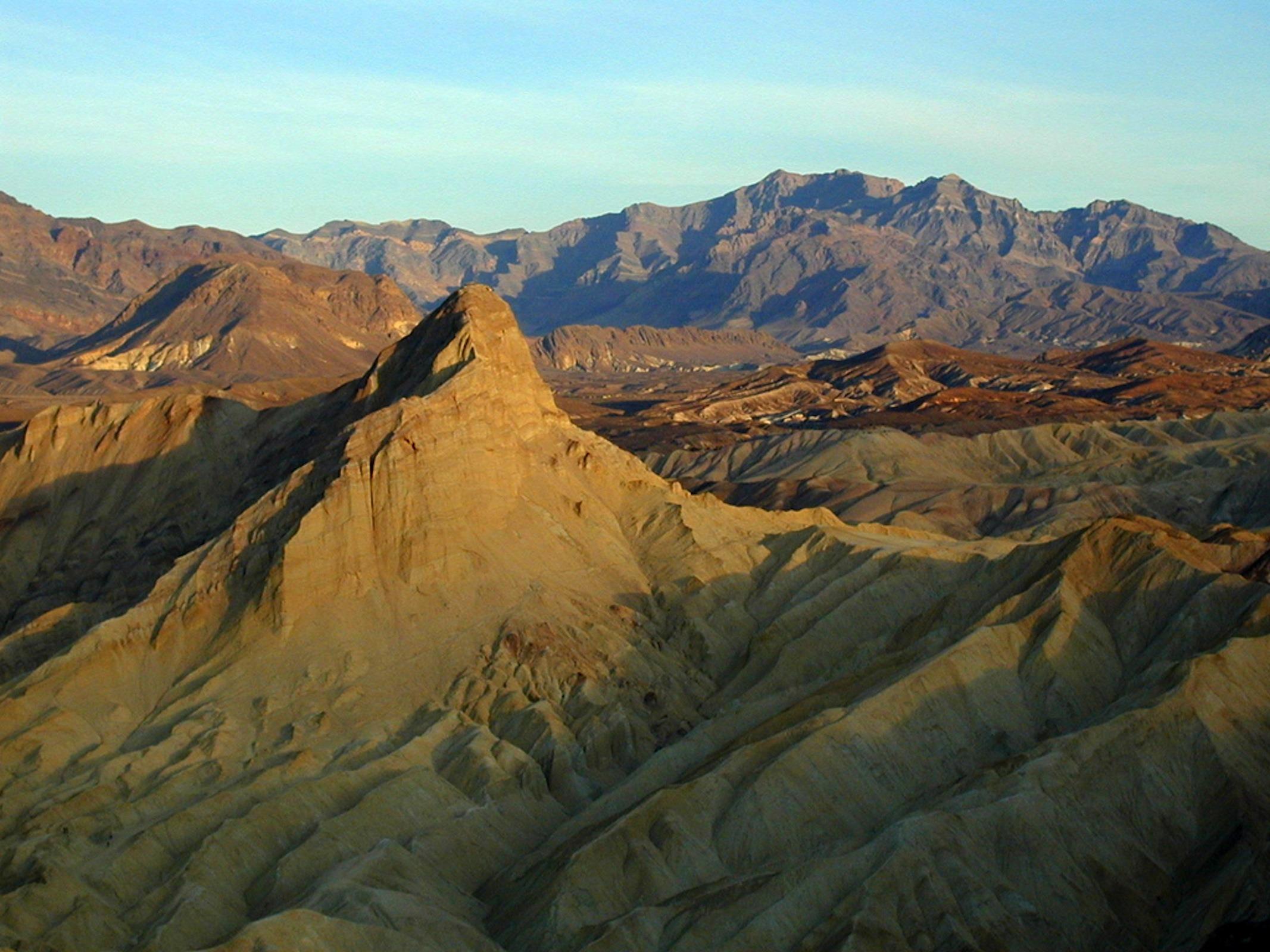 Desert valley mountains