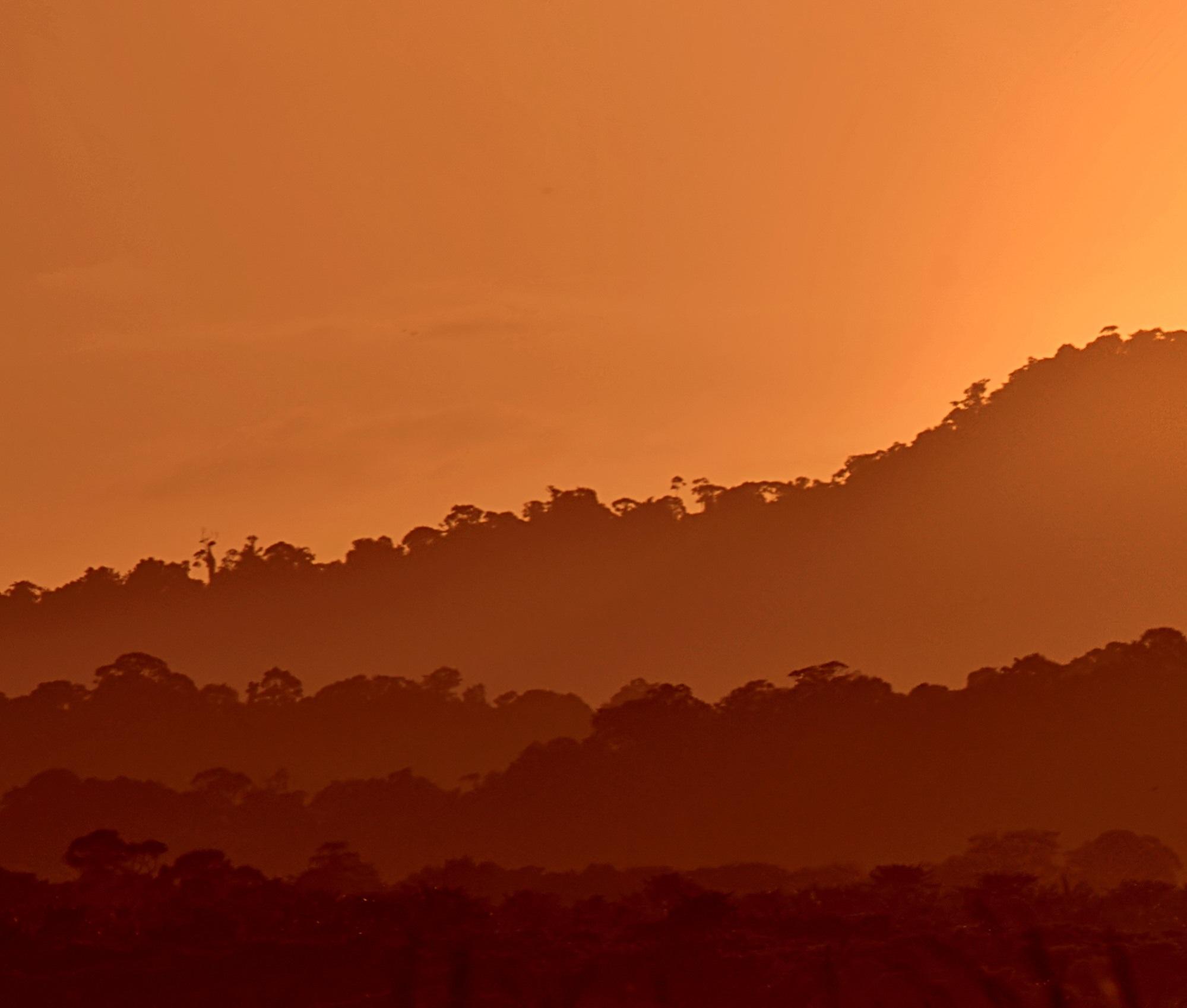 Sunset guyana orange