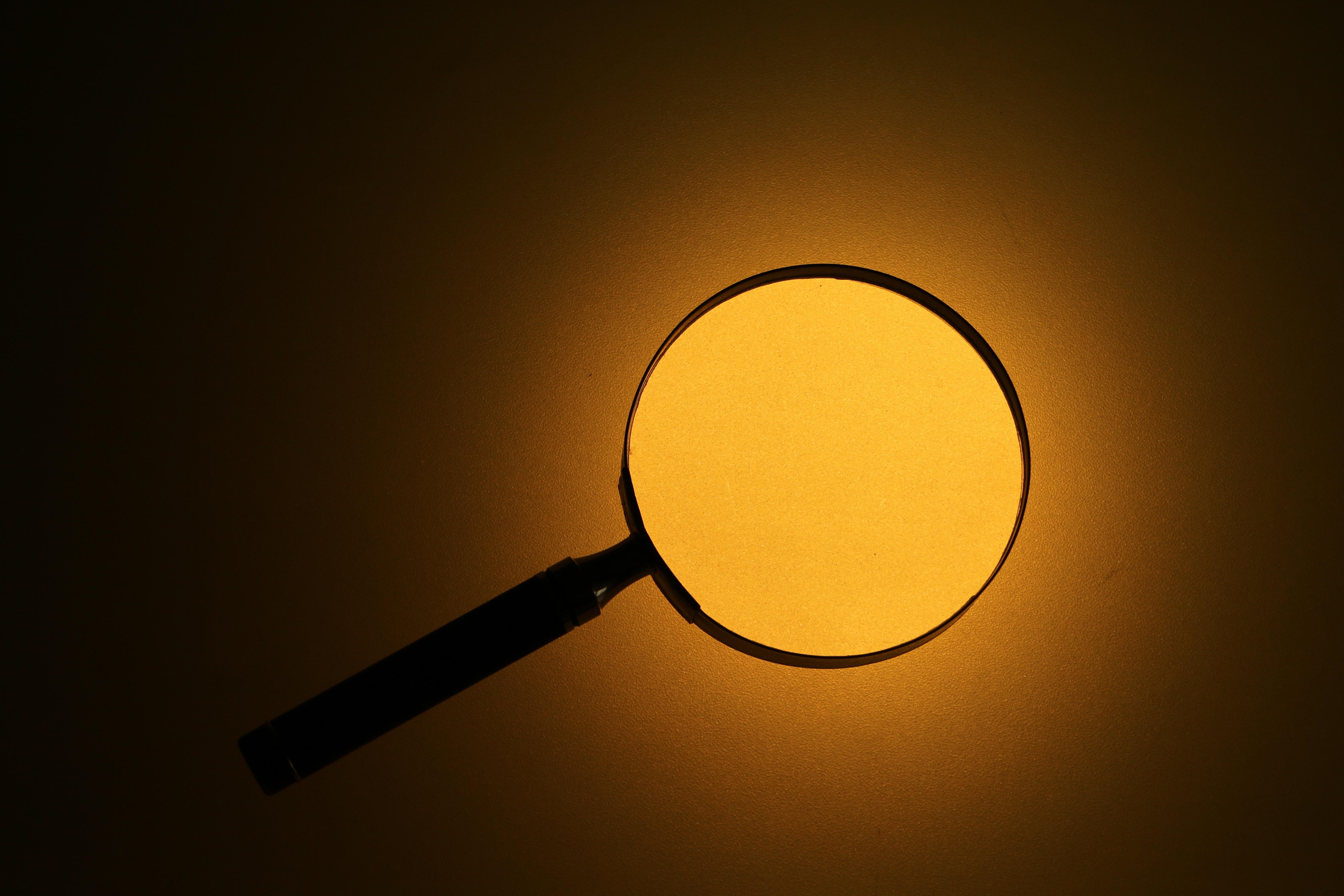 Investigators investigation in focus