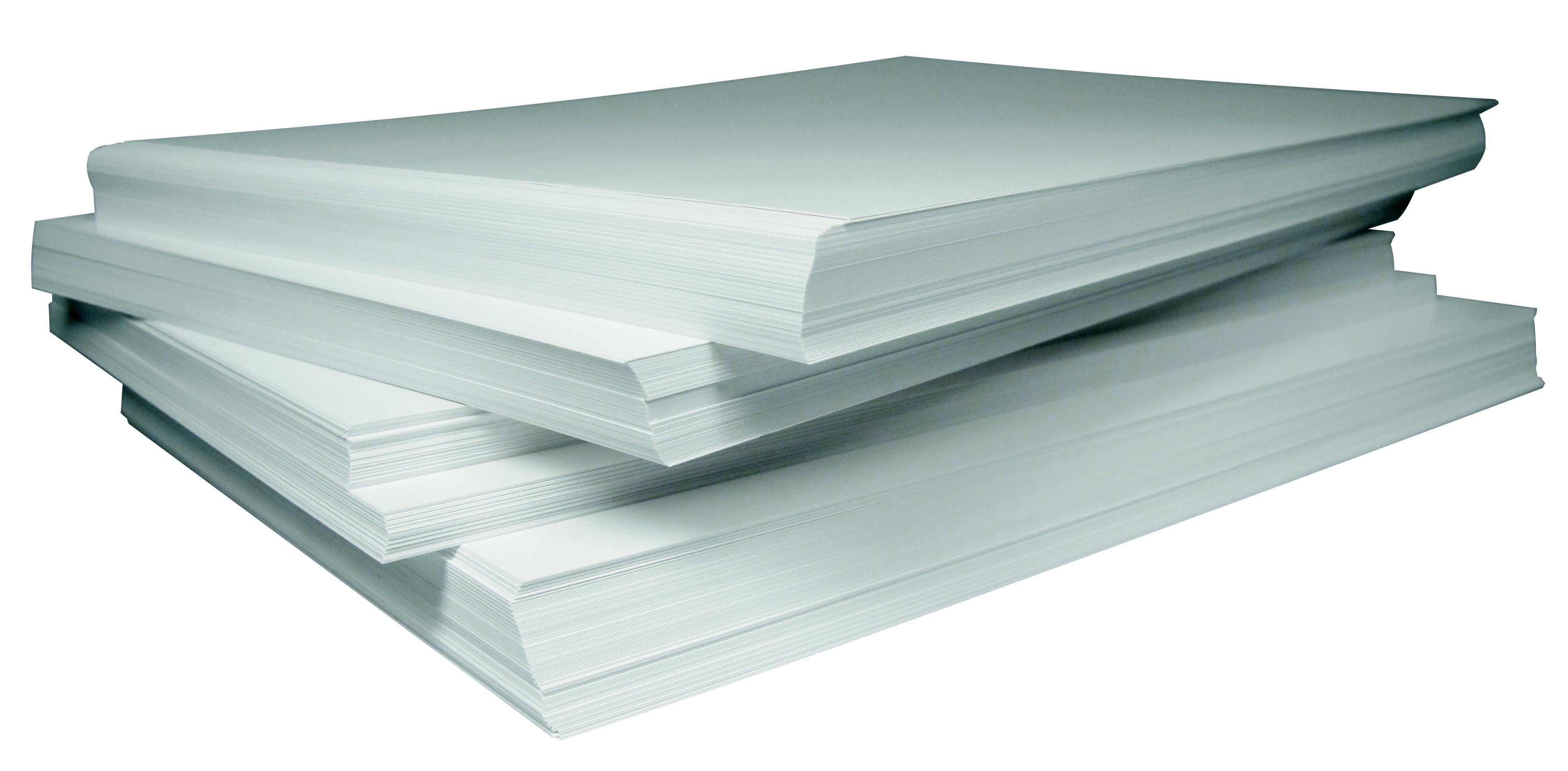 Paper stack white