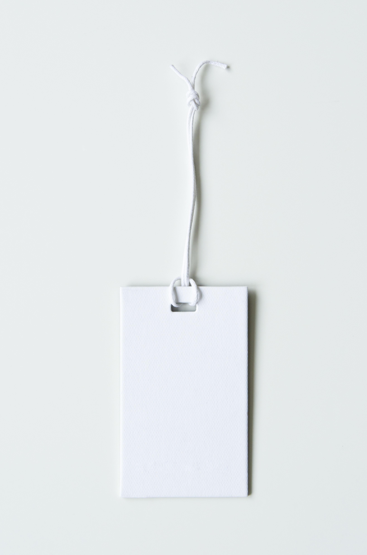 Paper tag white