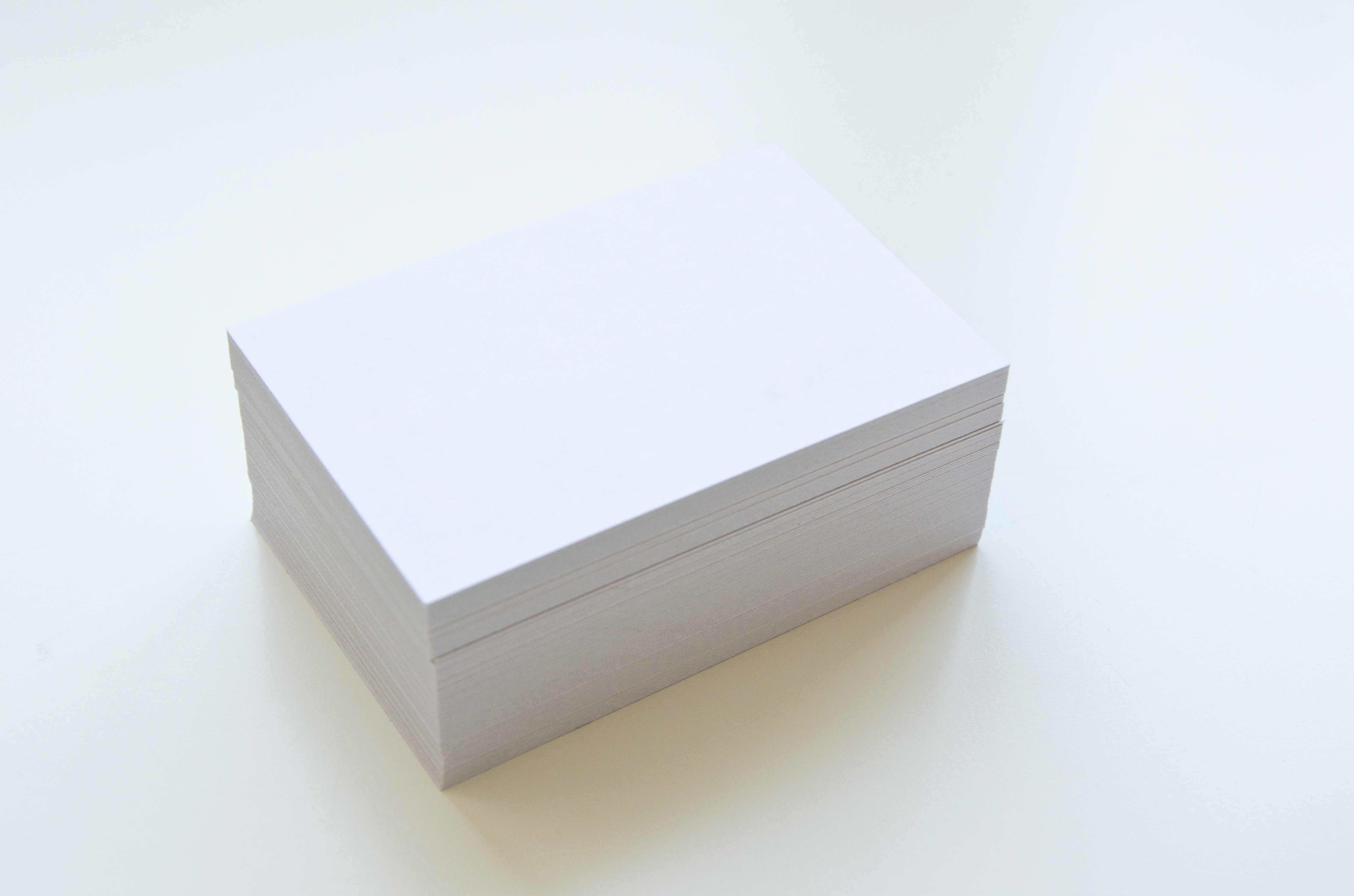 Blank paper white