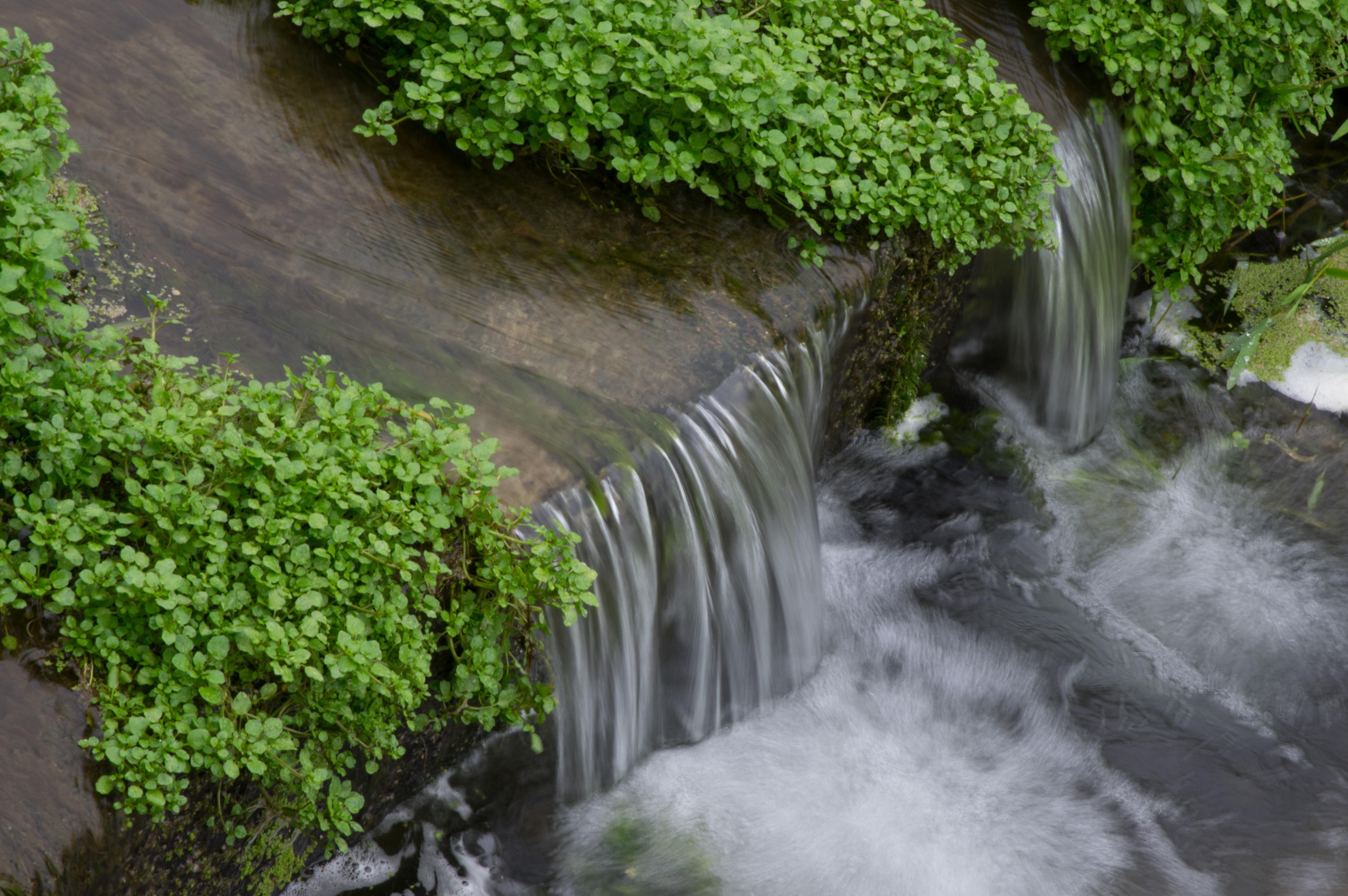 Running water river falls