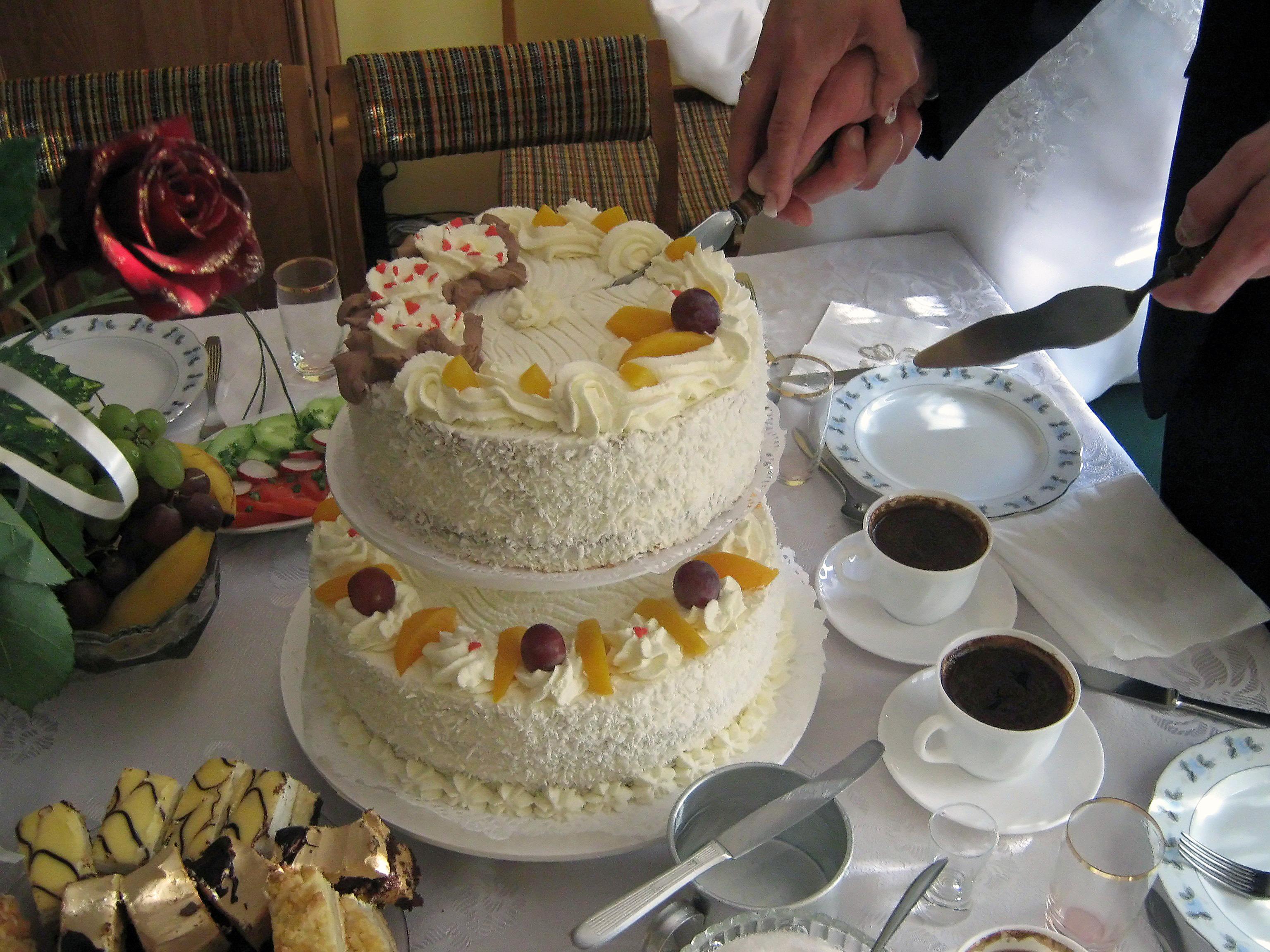 Cake wedding the ceremony