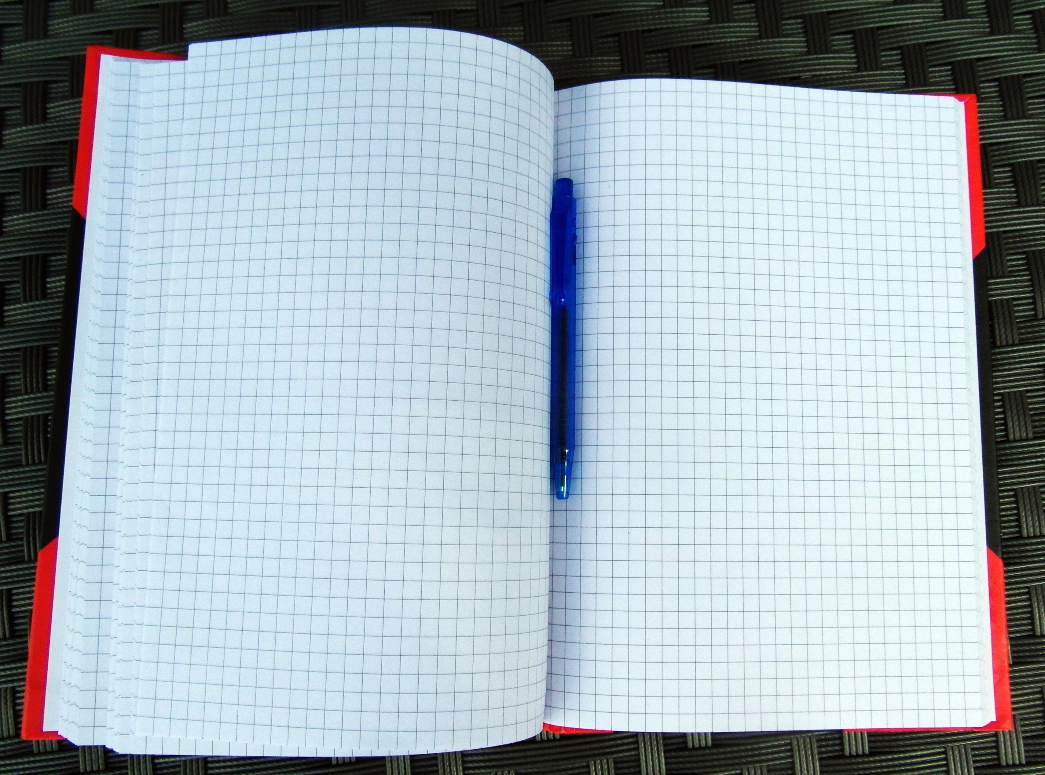 Notebook notes open
