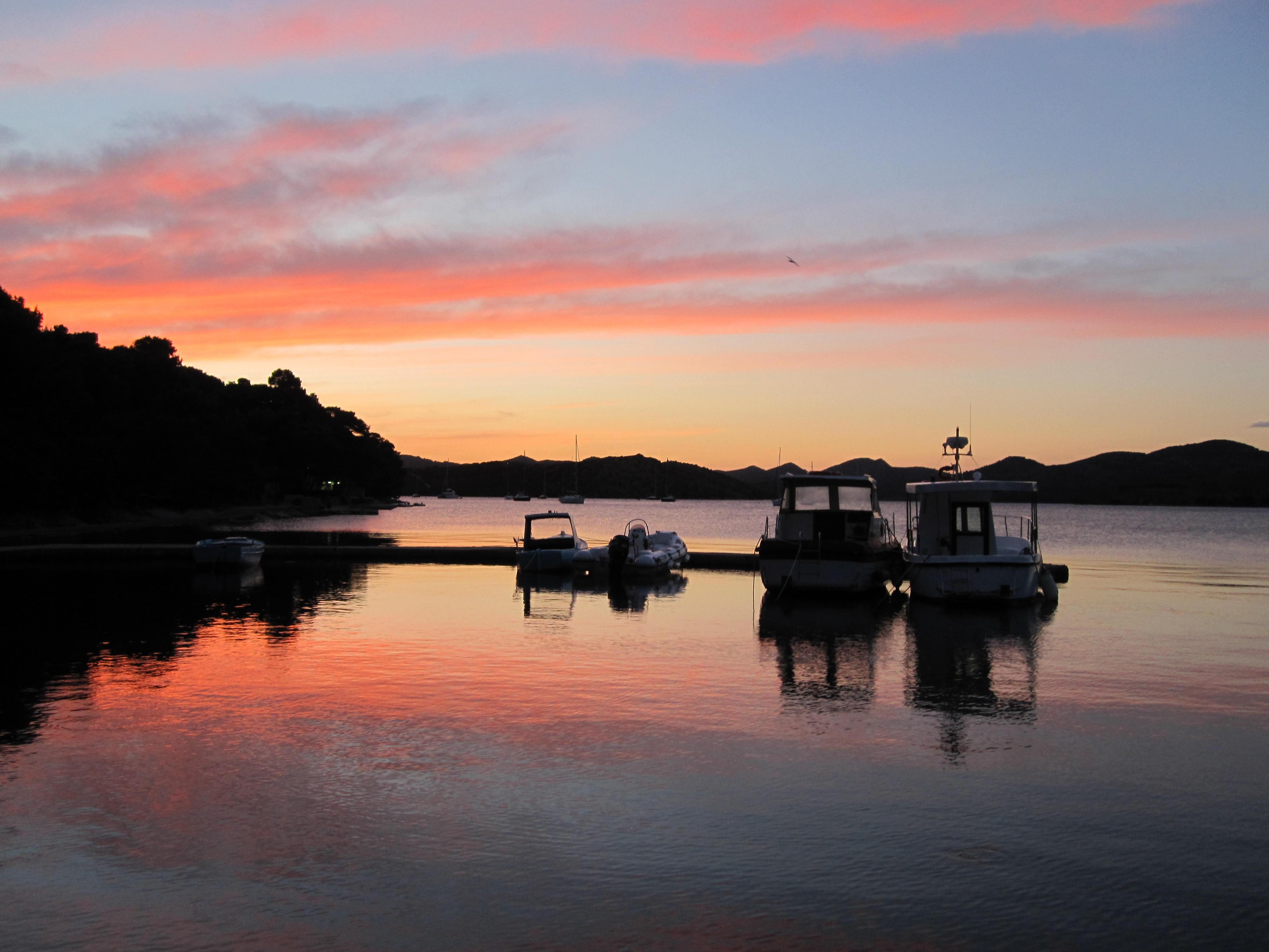 Port evening croatia