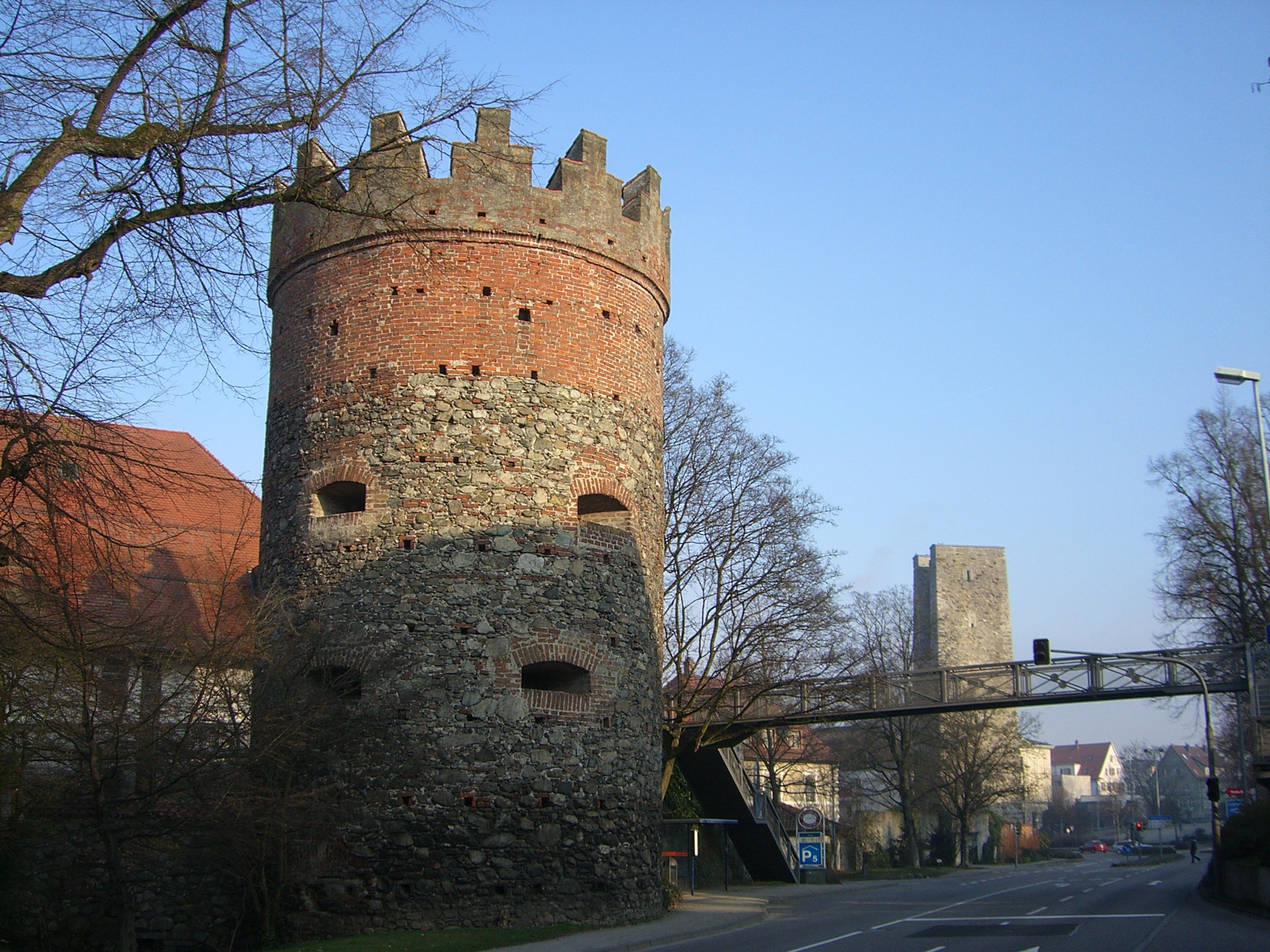 City wall historically building